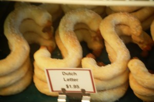 Dutch Letters pastries at Vander Ploeg bakery in Pella