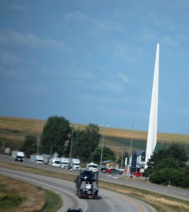 I-80 Rest Area - West bound near Casey, IA with a giant Wind Turbine blade
