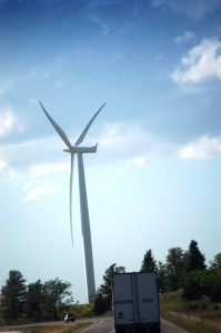 Giant Wind Turbine straight ahead