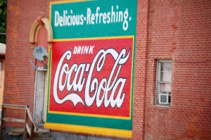 Old-style Coca Cola Wall Advertisement  - Nebraska City, NE