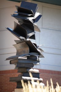Imagination Takes Flight - Matthew Placzek in front of Council Bluffs Public Library
