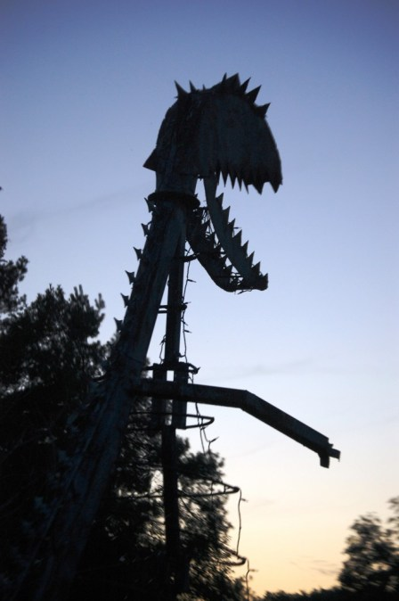 "Larry Vennard's Highway ""T"" Rex near Centralia, MO"