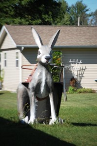Big Rabbit for kids to climb on