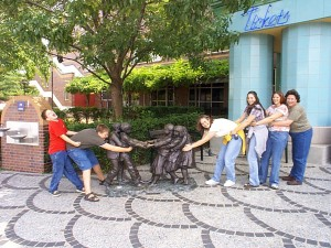 The Family Pulling Together at the Indianapolis Children's Museum, Summer 2001