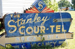 Old Stanley Cour-Tel Sign (from Missouri) now at Ra66it Ranch in Staunton, Illinois