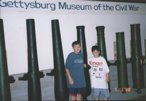 Seth and Solomon at the Gettysburg Museum, July 4 1998