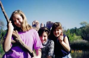 Kravetz girls in Sedona, AZ Oct 1992