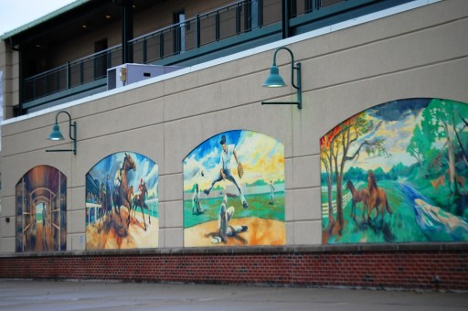 Whittaker Bank Ballpark murals by Esteban Camacho Steffensen