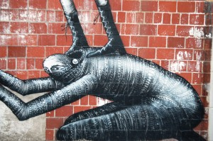 Detail of Phlegm mural