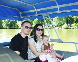 Adam, Marissa and Joselyn at Lake Victoria in Stratford, Ontario July 2008