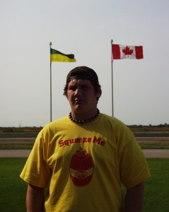 Solomon at the Saskatchewan Provincial Border Sept 2007