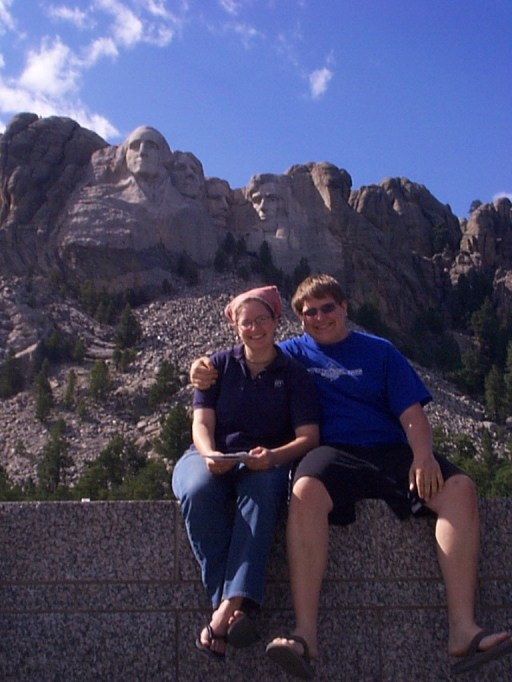 Amaree and Seth at Mt. Rushmore National Monument, August 2004