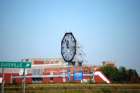 Giant Colgate Clock in Clarksville, IN