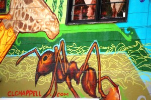 Detail of Chappell Mural in Louisville, KY
