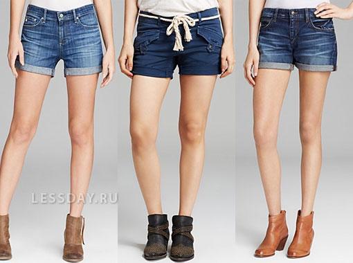 Модные джинсовые шорты 2014 на весну-лето, фото женских ...