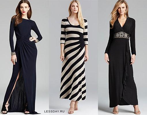 Модные длинные платья 2014: фото нарядов в пол или с ...