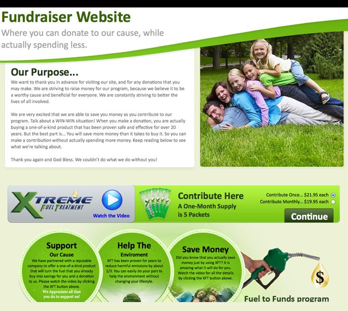 xft fundraiser website