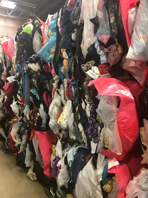 And... more bags of donated clothing.