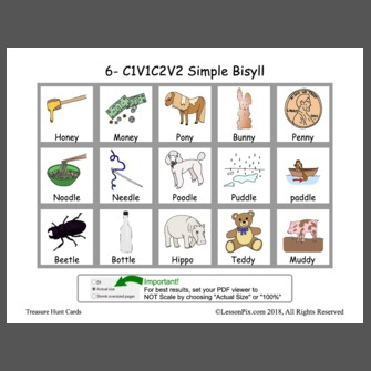 6 C1v1c2v2 Simple Bisyll