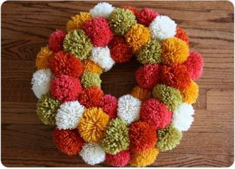 pompom-wreath