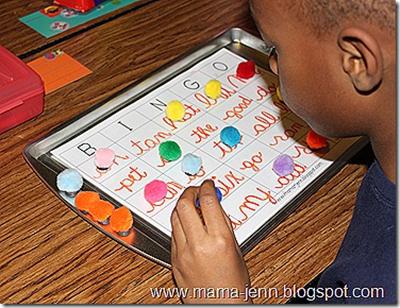 Homeschool Craft – Puff Ball Magnets