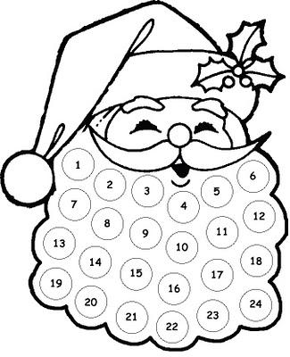 Free Printable Santa Countdown