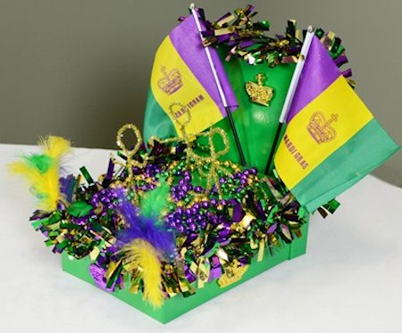 Mini Mardi Gras Parade Float