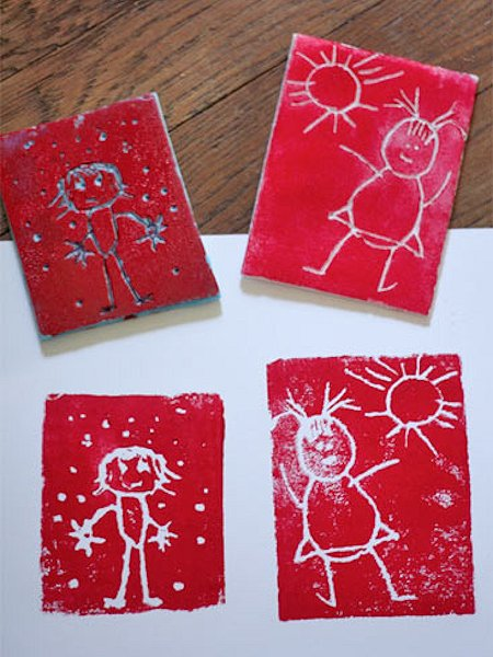 Block Printing with Kids