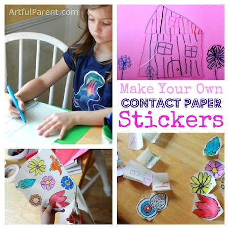 Make Your Own Contact Paper Stickers With Kids  Lesson Plans - Make your own decal paper