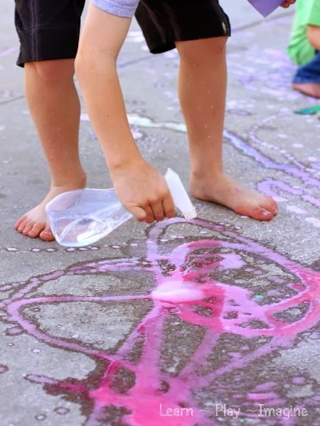 Erupting Rainbow Sidewalk Chalk Paint