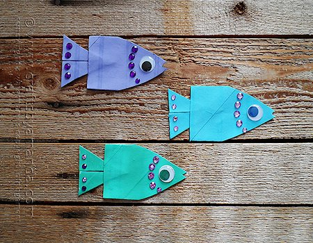 School of Cardboard Tube Fish