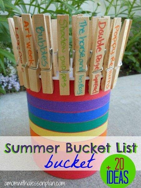 Summer Bucket List Bucket and Ideas