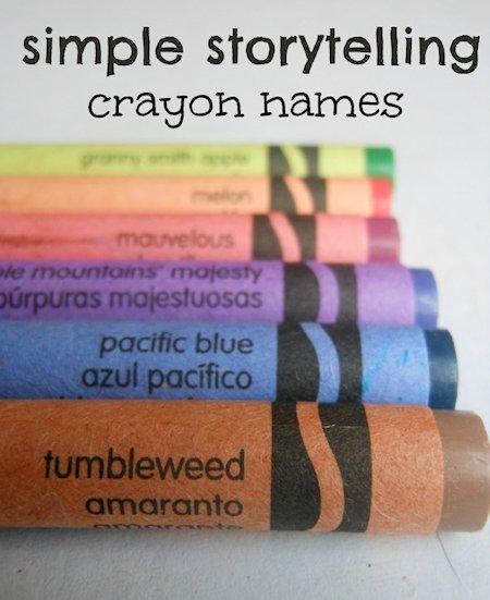 Crayon Name Storytelling Activity