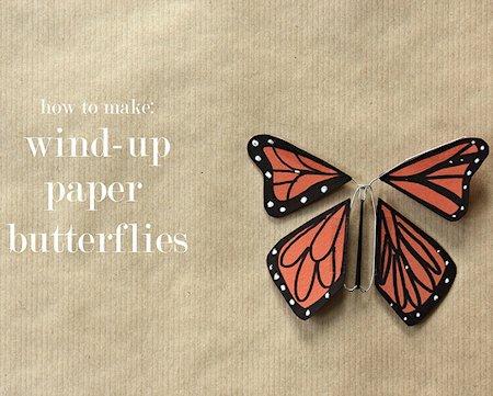 Wind-Up Paper Butterflies