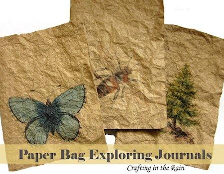 Paper Bag Exploring Journals