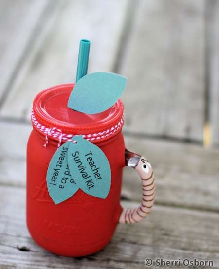 Apple Mason Jar Teacher Gift
