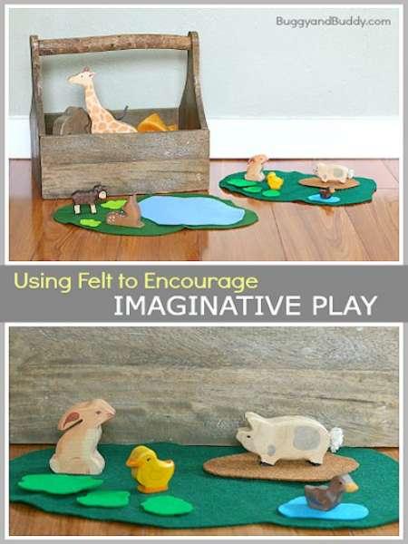Encourage Imaginative Play Using Felt