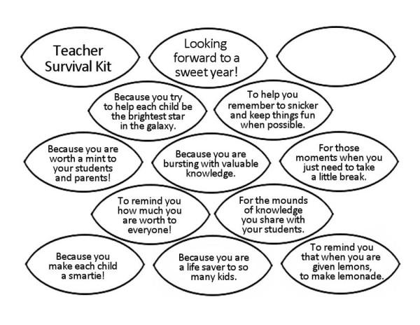 Teacher Survival Kit Leaves