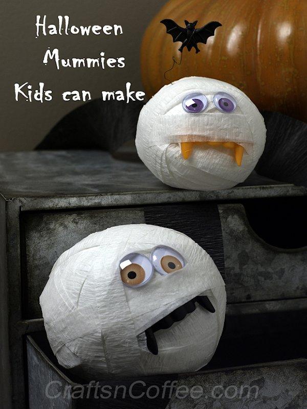 DIY Crepe Paper Mummies