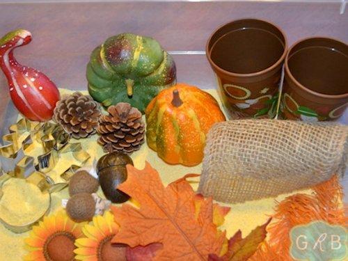 Fall Corn Meal Sensory Box