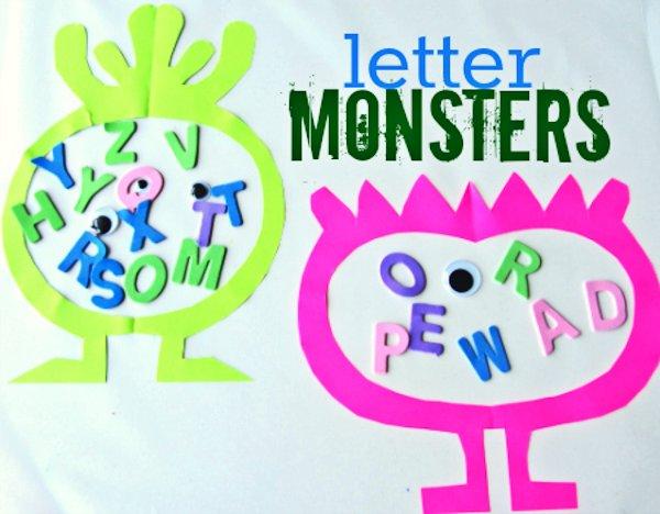 Letter Monster Craft For Kids