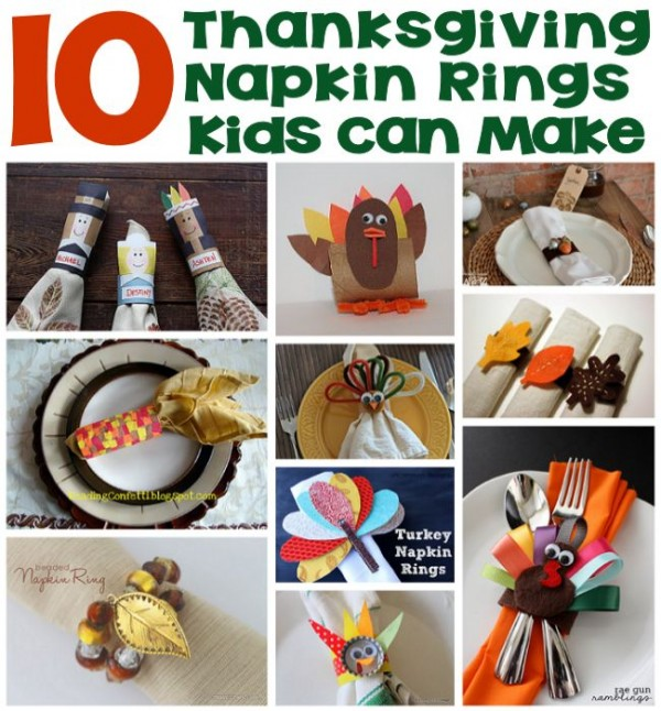 10 Thanksgiving Napkin Rings Kids Can Make
