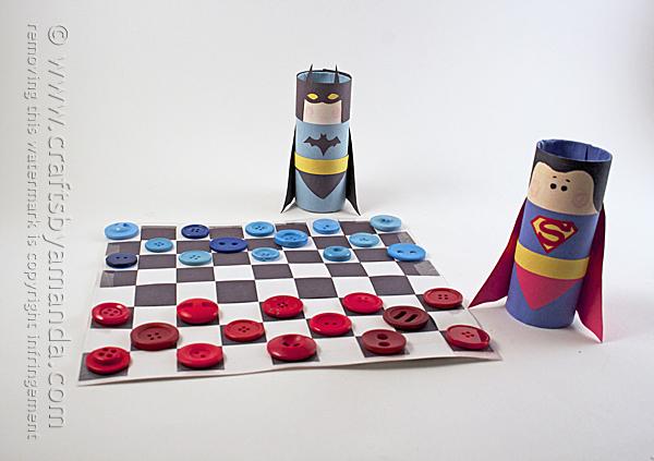 Batman vs Superman Checkers