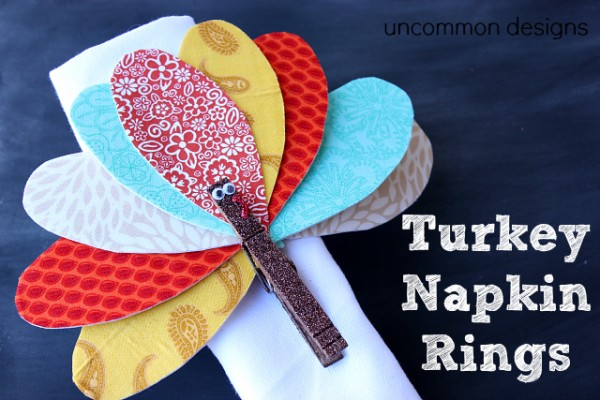 Clothespin Turkey Napkin Ring