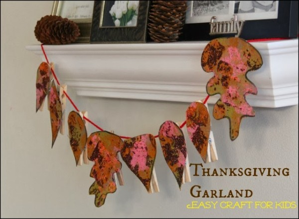 Easy Leaf Garland Craft