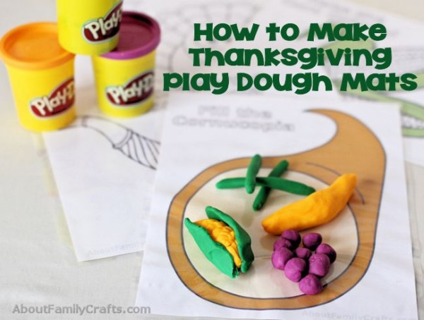 Printable Thanksgiving Play Dough Mats