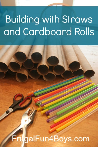 Building Activity Using Straws And Paper Towel Rolls