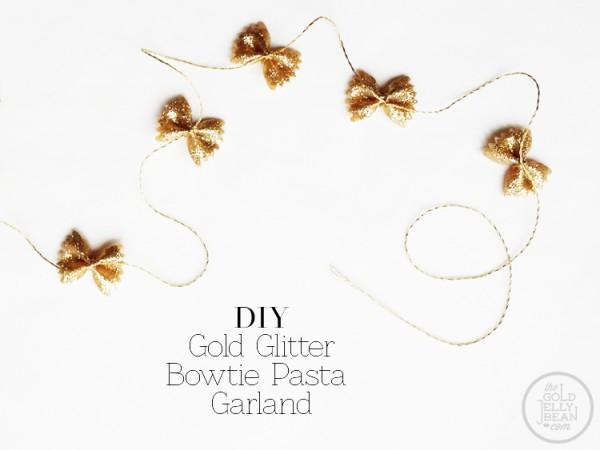 DIY Bowtie Pasta Garland