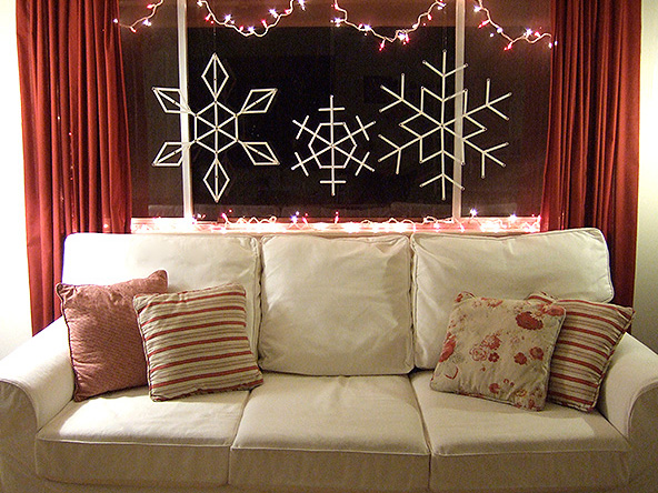 Giant Craft Stick Snowflakes