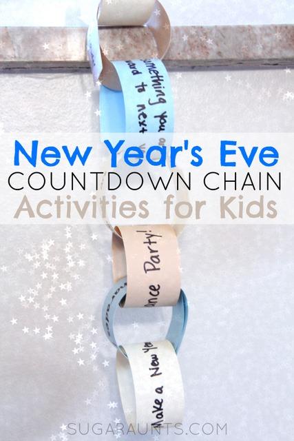 New Year's Eve Activity Kids Countdown Chain